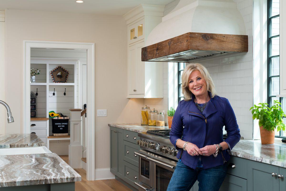 Liz in a kitchen